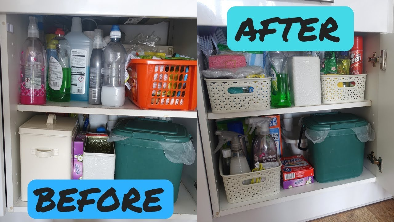 Cleaning Cupboard Organisation Mrs Hinch Style Organise With Me Kitchen Organisation with size 1280 X 720