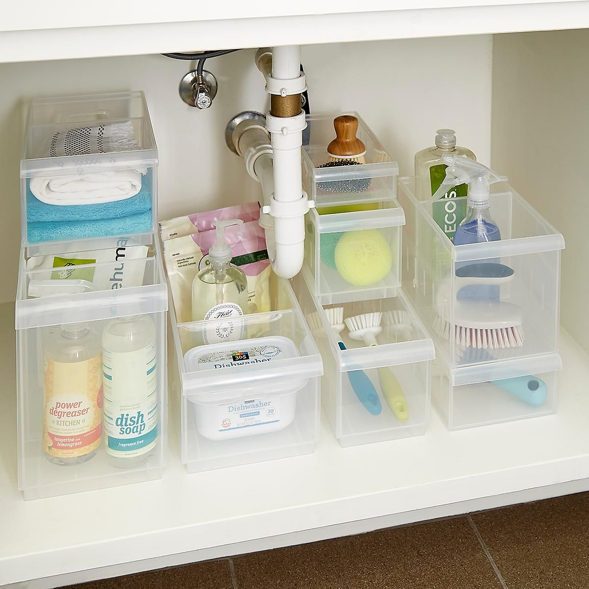 Clear Stackable Plastic Storage Bins Kitchen Stackable for measurements 1200 X 1200