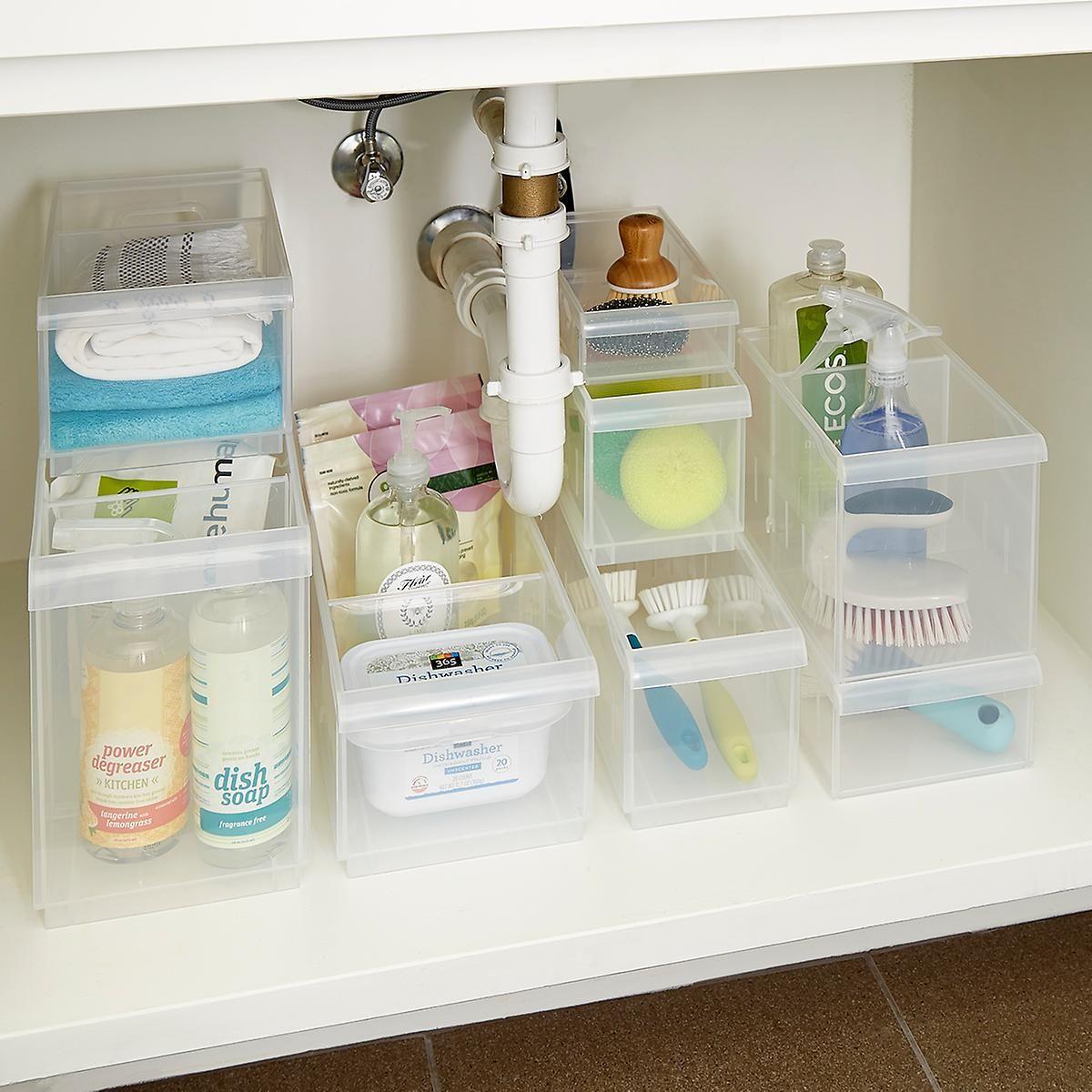 Clear Stackable Plastic Storage Bins Kitchen Stackable in measurements 1200 X 1200