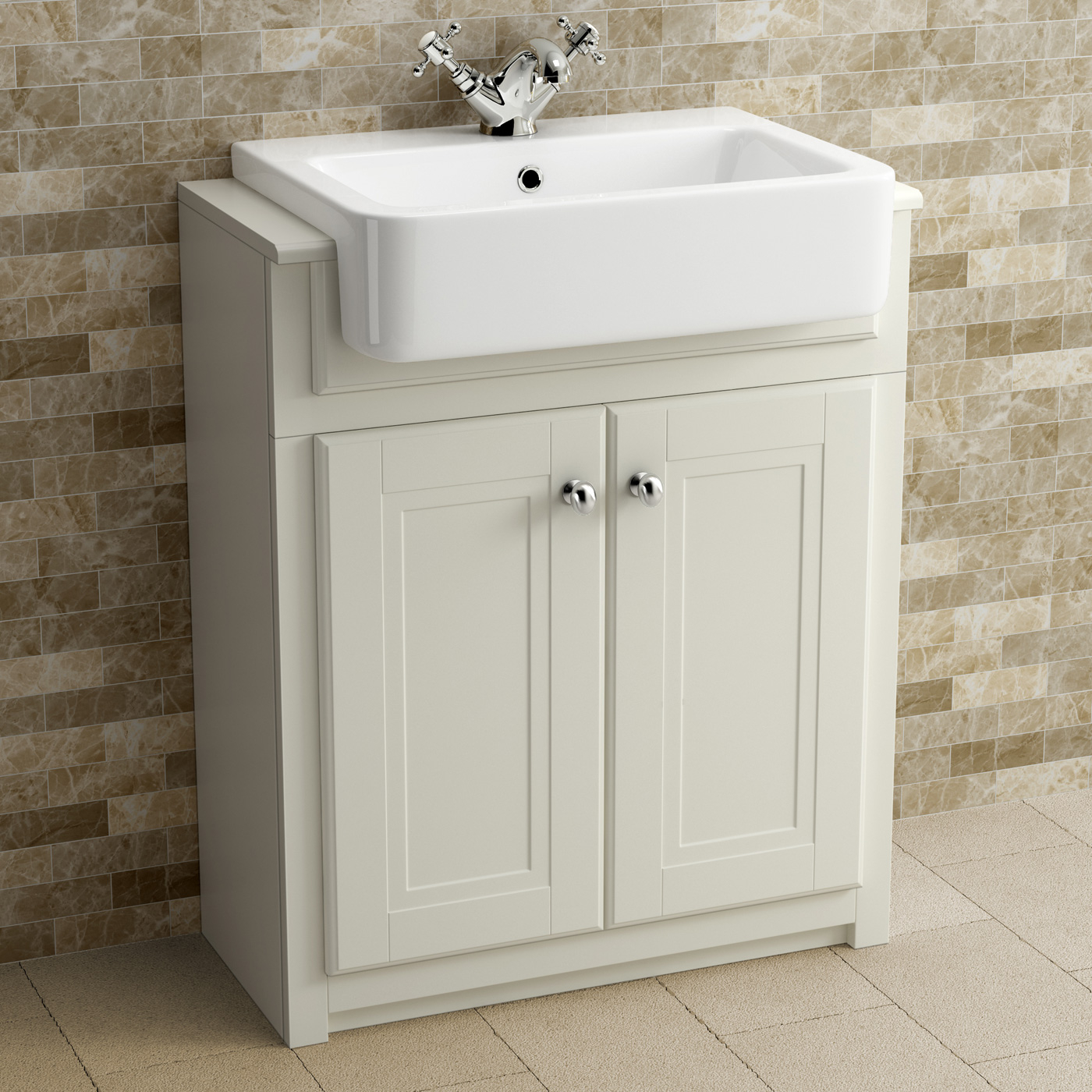 Clotted Cream Bathroom Vanity Unit Basin Furniture Storage with regard to sizing 1400 X 1400