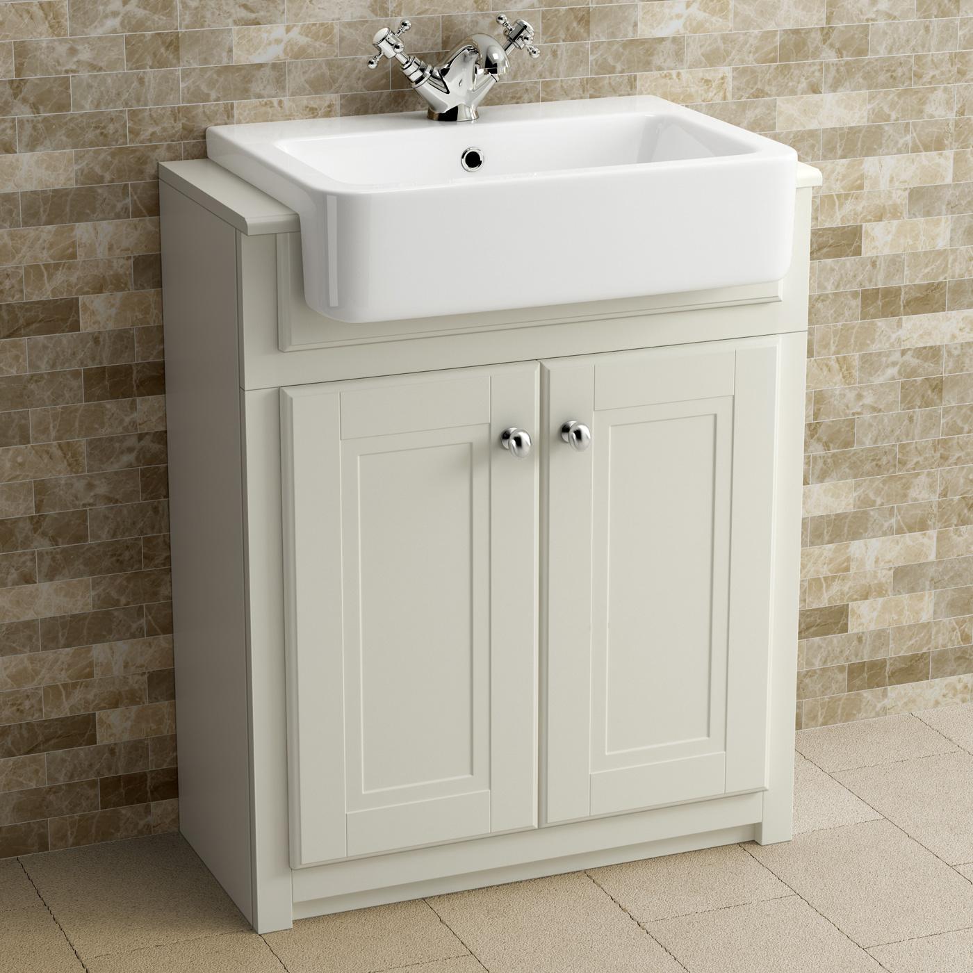 Clotted Cream Bathroom Vanity Unit Basin Furniture Storage with regard to sizing 1400 X 1400