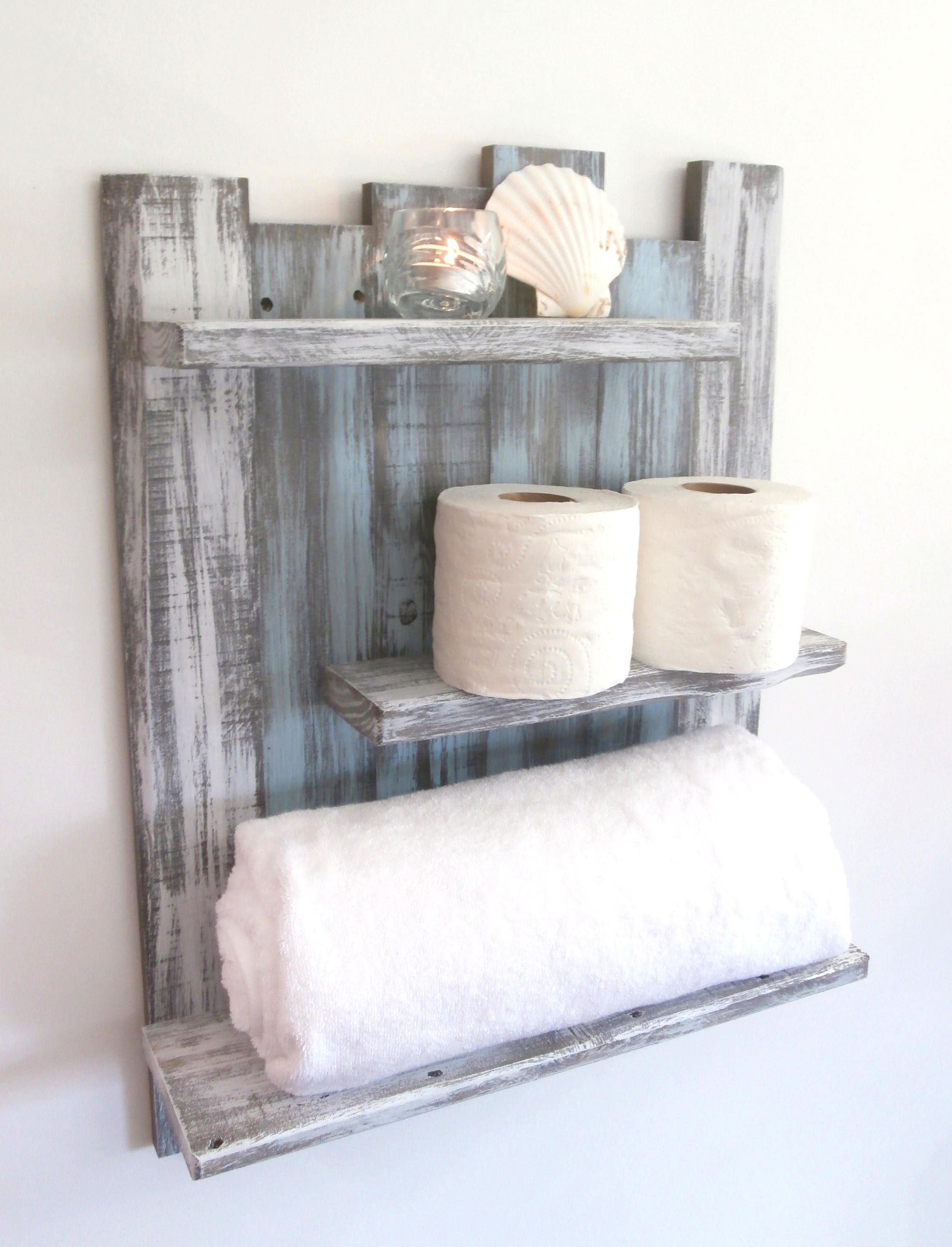 Coastal Decor Above The Toilet Bathroom Shelves 3 Shelf throughout proportions 2291 X 3000