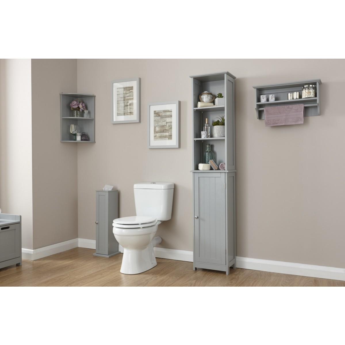 Colonial Tall Bathroom Storage Cupboard Grey Or White for sizing 1200 X 1200