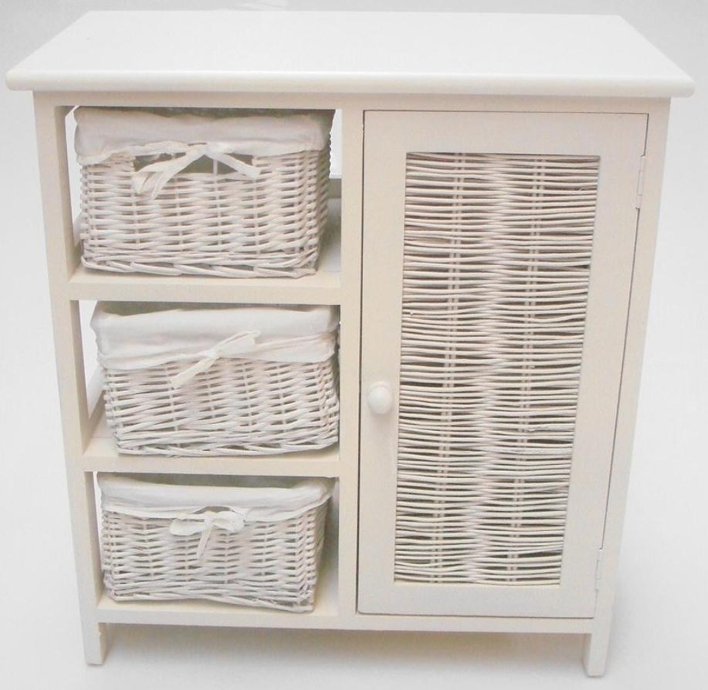 Contemporary Wicker Bathroom Storage Adorable White Cabinet for sizing 1024 X 999