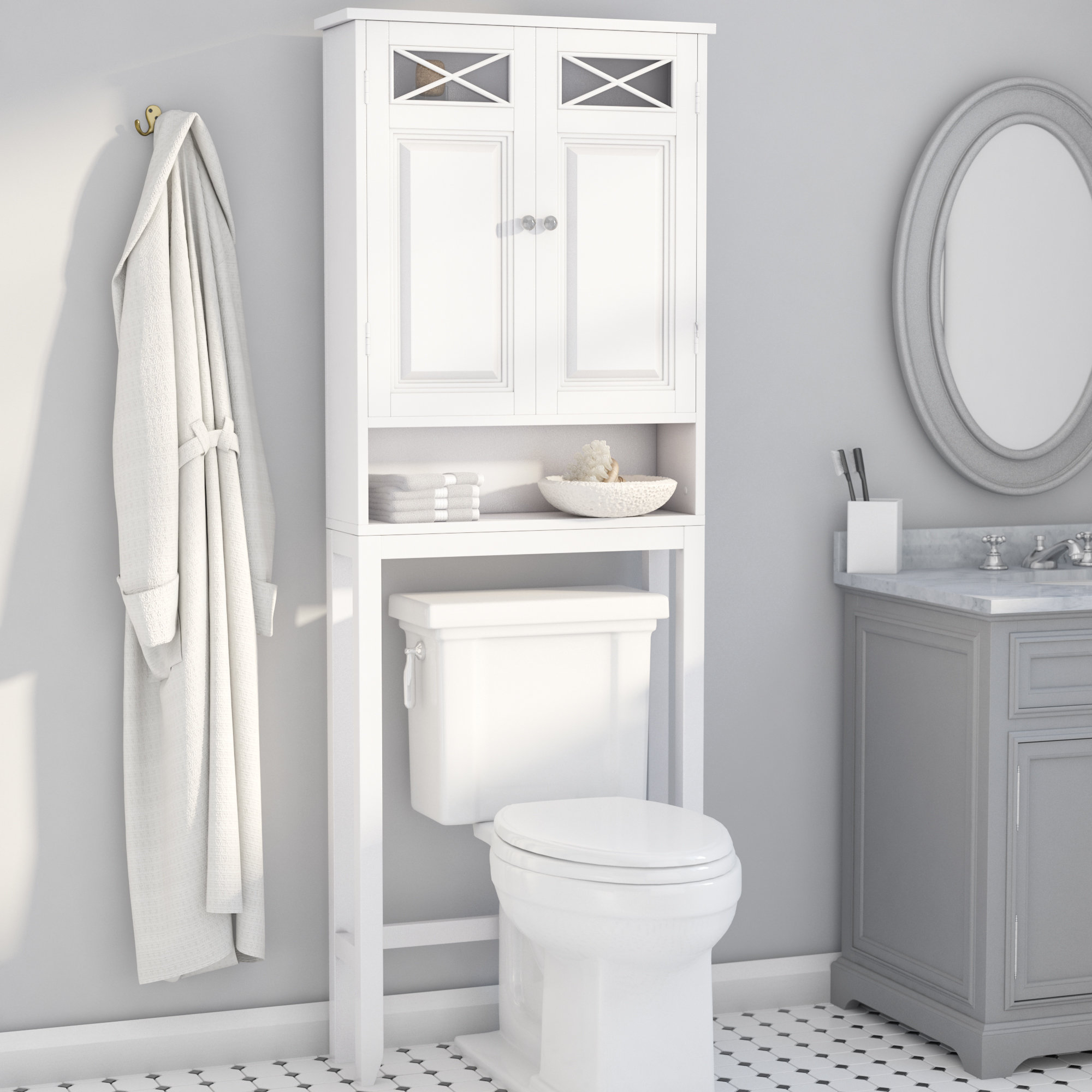 Corner Bathroom Storage Wayfair intended for proportions 2000 X 2000