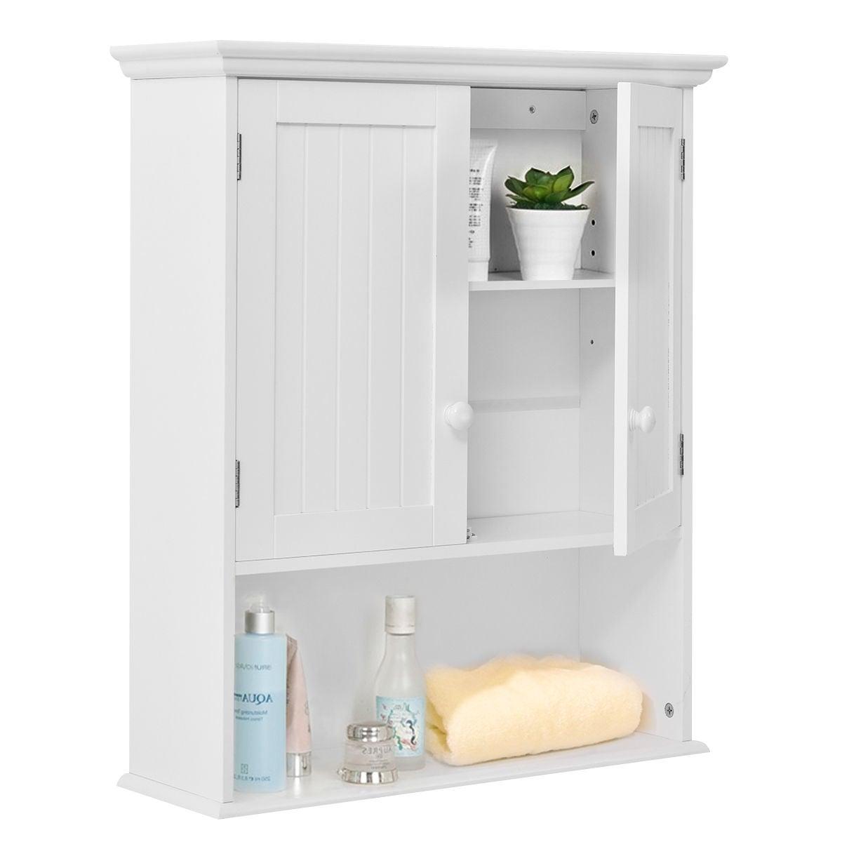 Costway Wall Mount Bathroom Cabinet Storage Organizer Medicine Cabinet Kitchen Laundry in sizing 1200 X 1200