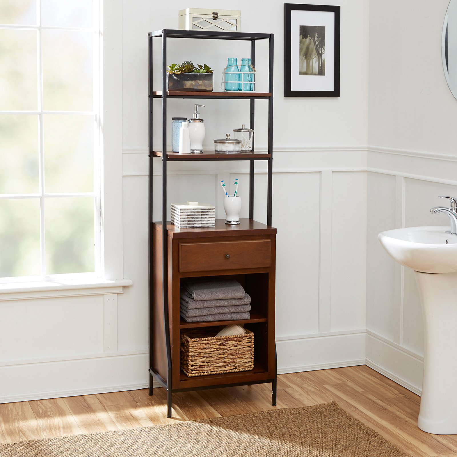 Countertop Shel White Bathroom Base Tower Pedestal Counter regarding dimensions 1600 X 1600