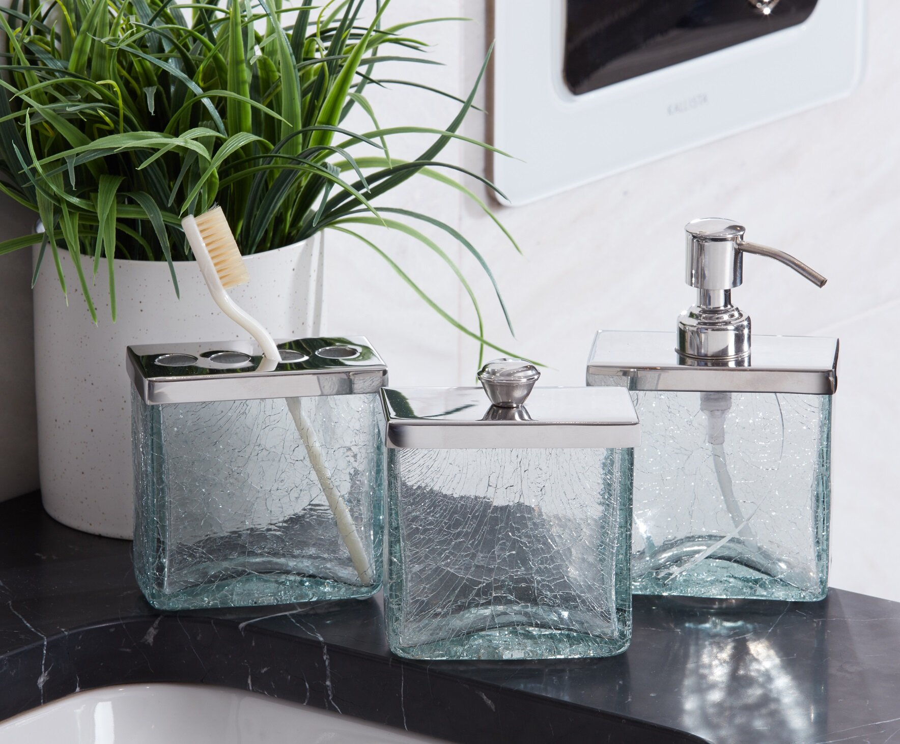 Crackle Bathroom Storage Container with proportions 1768 X 1462