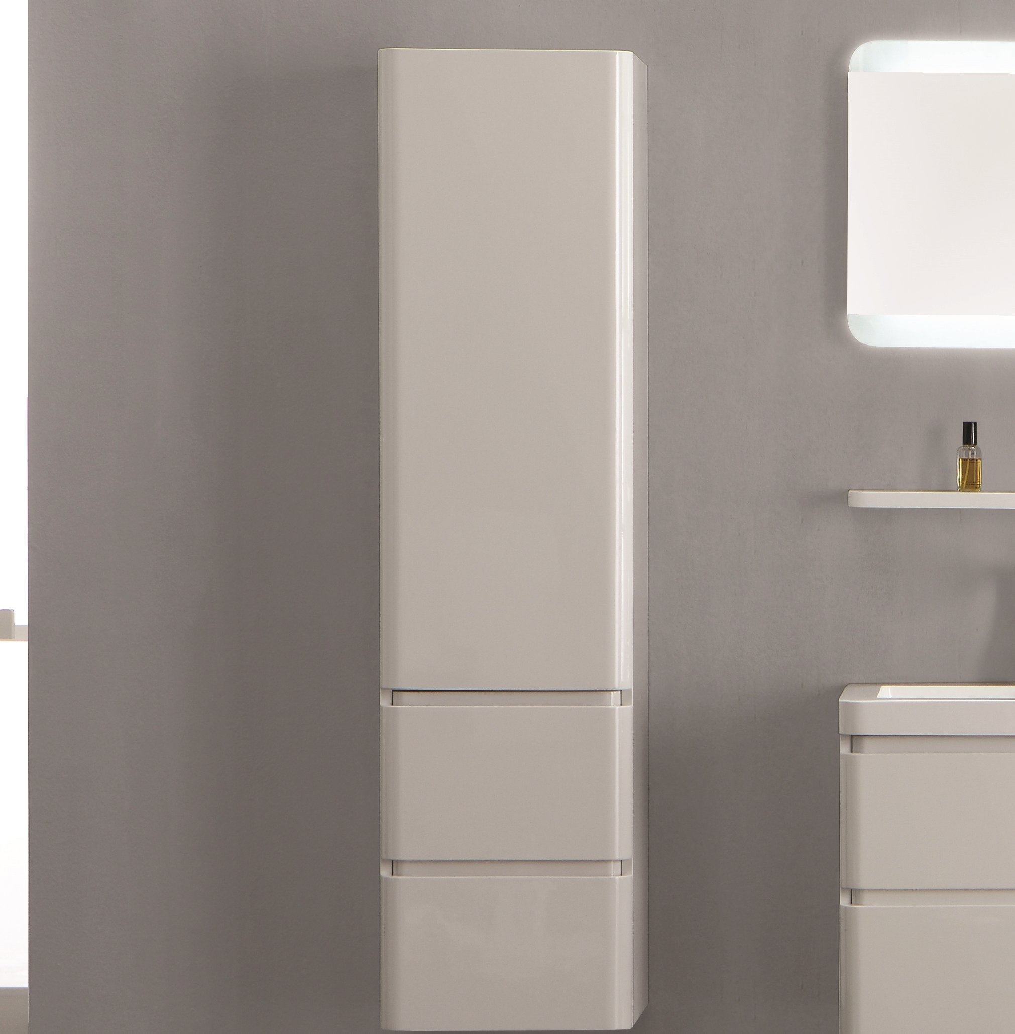 Cristina 40 X 155cm Wall Mounted Tall Bathroom Cabinet for dimensions 2021 X 2059