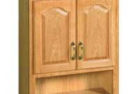 Design House Richland 26 34 In W X 30 In H X 10 38 In D Unassembled Bathroom Storage Wall Cabinet With Shelf In Nutmeg Oak regarding proportions 1000 X 1000