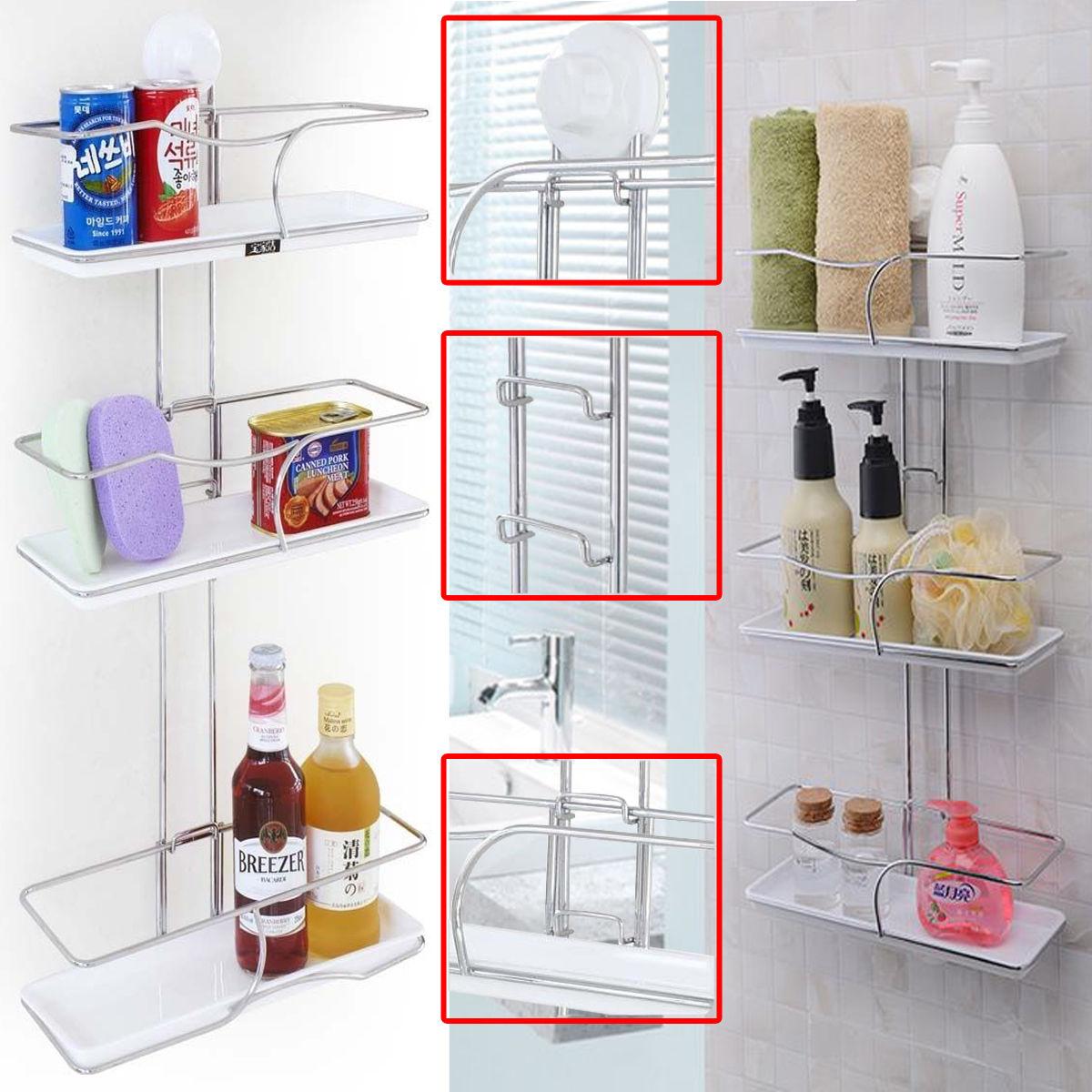 Details About 3 Tier Adjustable Bathroom Kitchen Storage Rack Caddy Organiser Shelf Telescopic with regard to dimensions 1200 X 1200