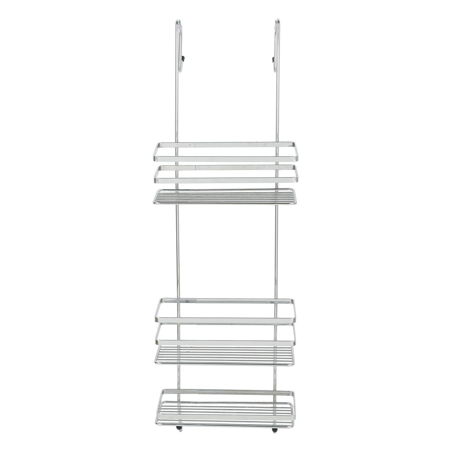 Details About 3 Tier Large Chrome Hanging Shower Caddy Bathroom Storage Rack Shelf Organiser within proportions 1500 X 1500