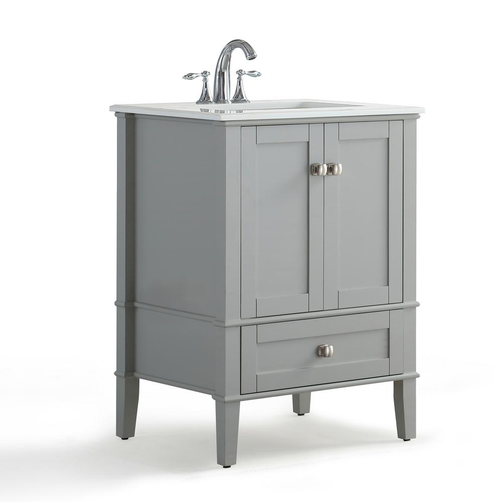 Details About Bath Vanity Quartz Marble Top Sink White Basin Bathroom Storage Cabinet Grey New for size 1000 X 1000