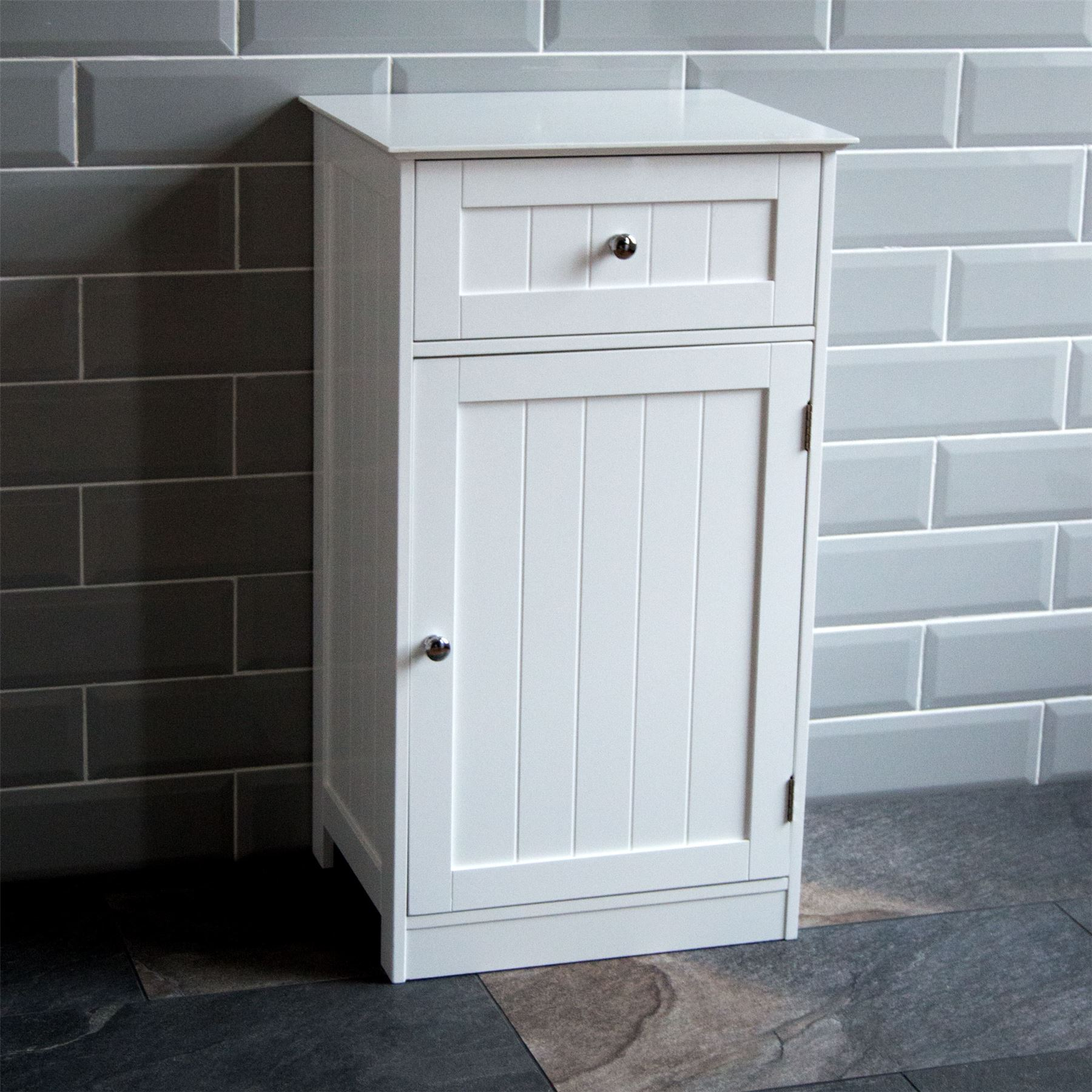 Details About Bathroom Cabinet 1 Door 1 Drawer Freestanding Storage Unit Wood Home Discount within sizing 1800 X 1800