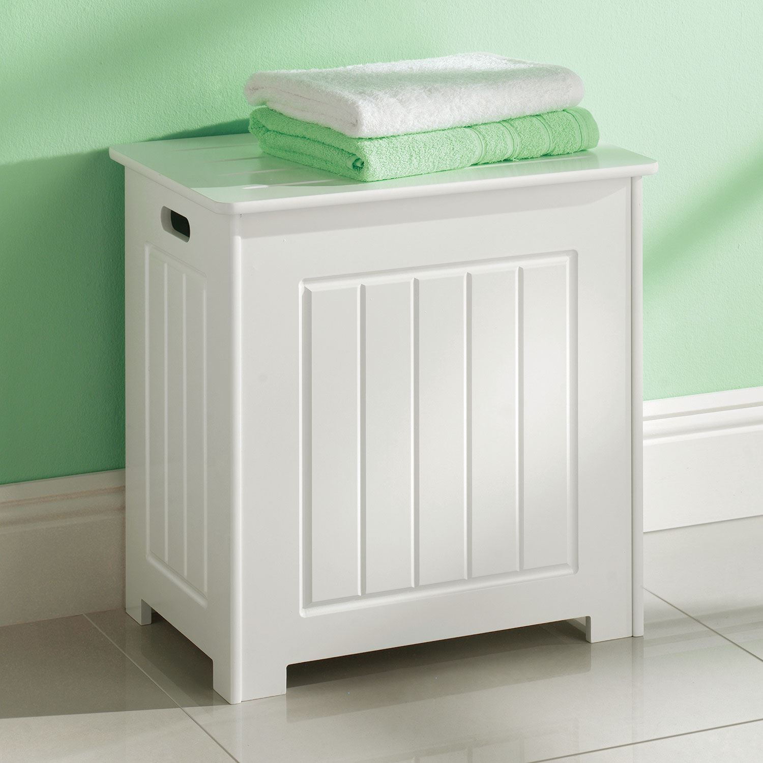 Details About Bathroom Laundry Storage Organiser Cabinet Chest Wooden White Laundry Basket New inside sizing 1500 X 1500