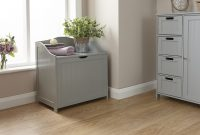 Details About Bathroom Ottoman Storage Chest Towel Cupboard Wooden Cabinet Tong Groove Grey with proportions 1500 X 944