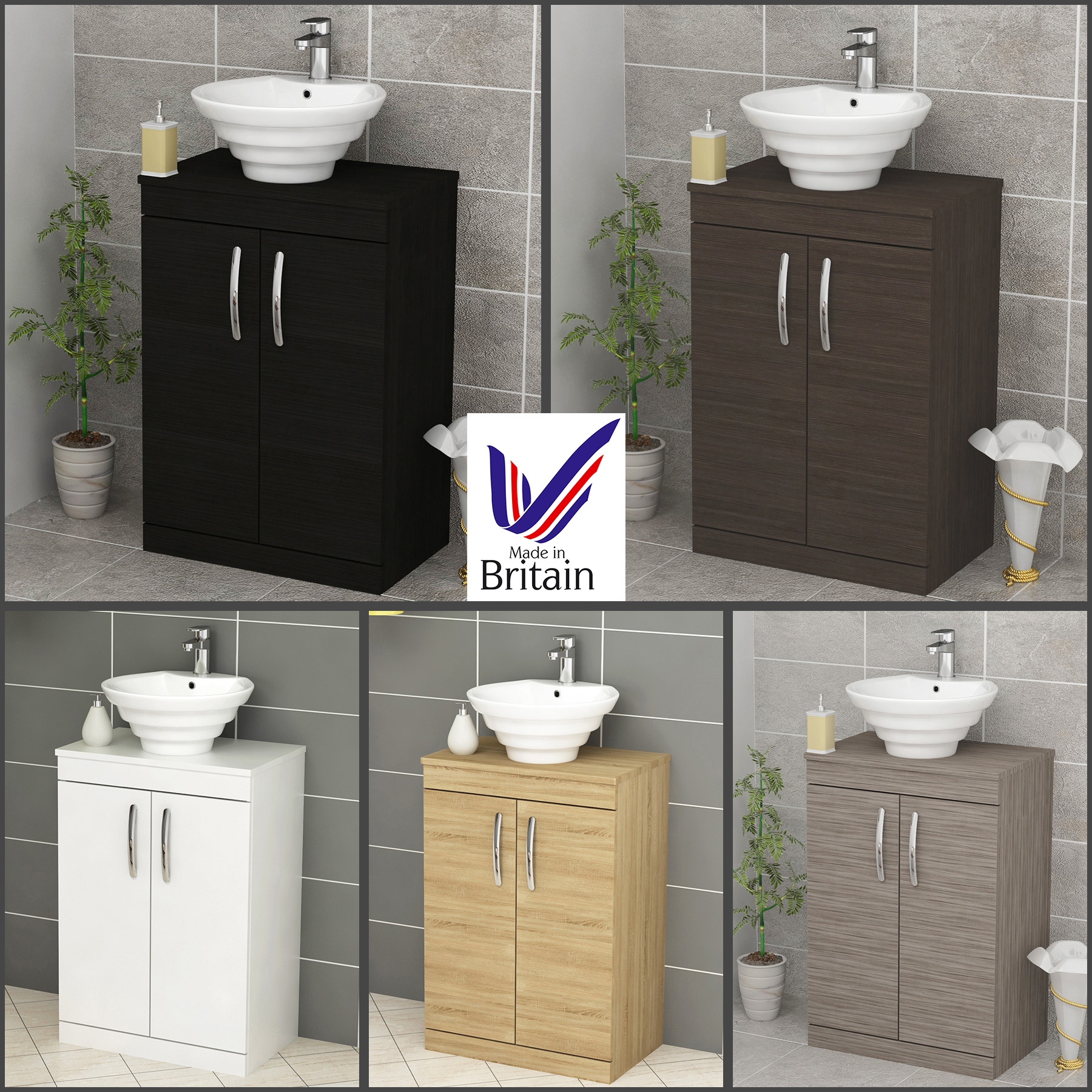 Details About Bathroom Vanity Unit Floor Standing 2 Door Cabinet Storage Countertop Basin Sink pertaining to measurements 1800 X 1800