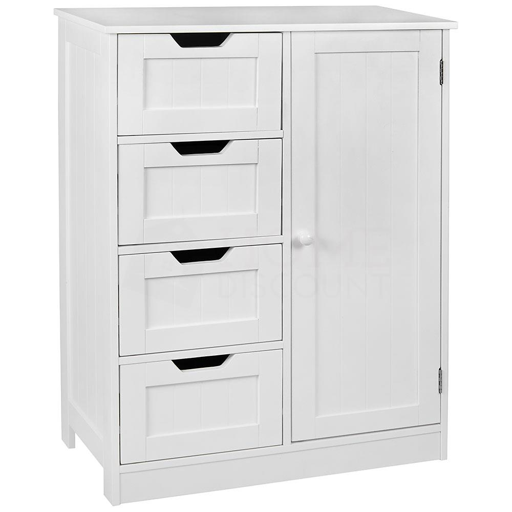 Details About Freestanding Bathroom Cabinet White Vanity Storage Mirror Wooden Storage for proportions 1000 X 1000