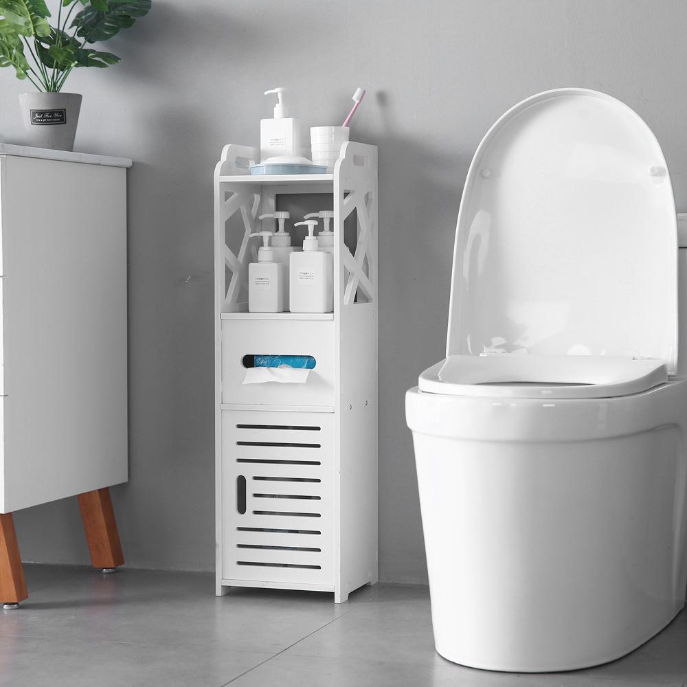 Details About Indoor Furniture Bathroom Storage Cupboard Unit Cabinet Shelves Slim Shelf Wood with regard to sizing 1000 X 1000