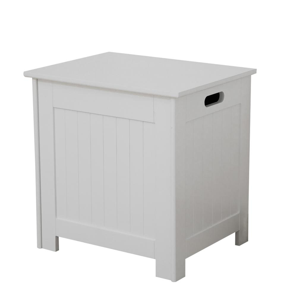Details About Laundry Cabinet Ottoman With Lid Wooden Chest Box Trunk Bathroom Storage Unit in proportions 1000 X 1000