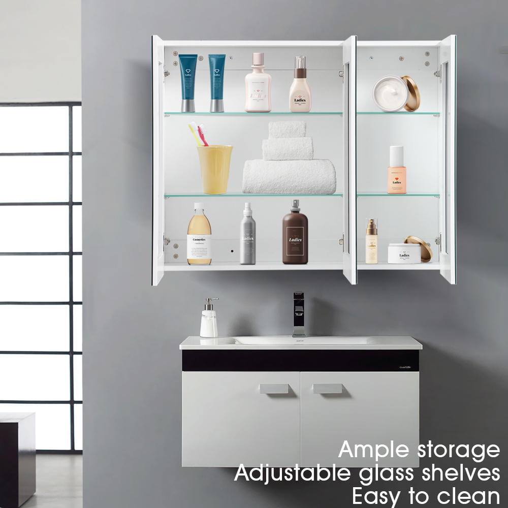 Details About Levede Bathroom Storage Mirror Cabinet Shaving Wall Hung Organiser Fast Delivery throughout dimensions 1000 X 1000