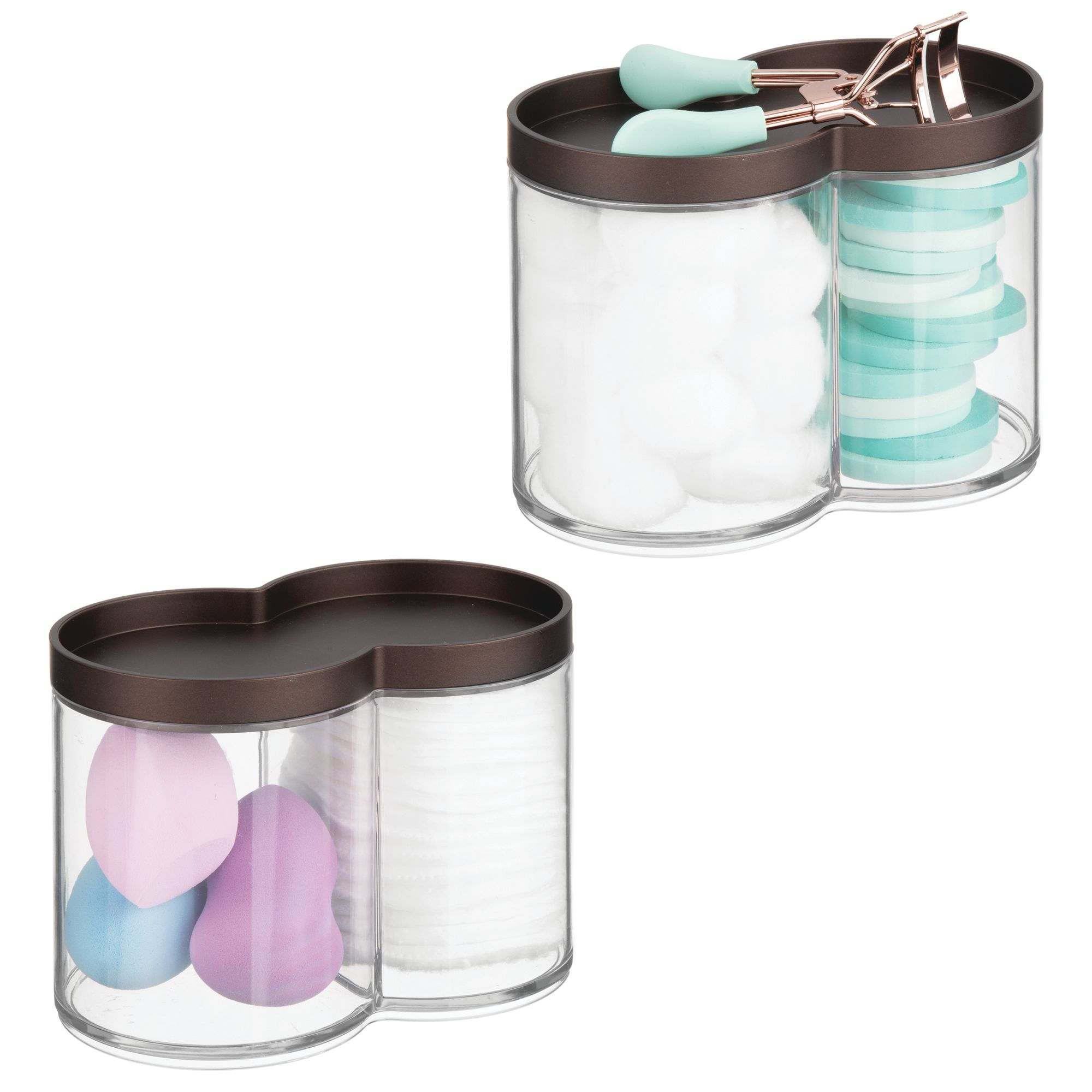 Details About Mdesign Plastic Bathroom Vanity Countertop Canister Jar With Lid with proportions 2000 X 2000