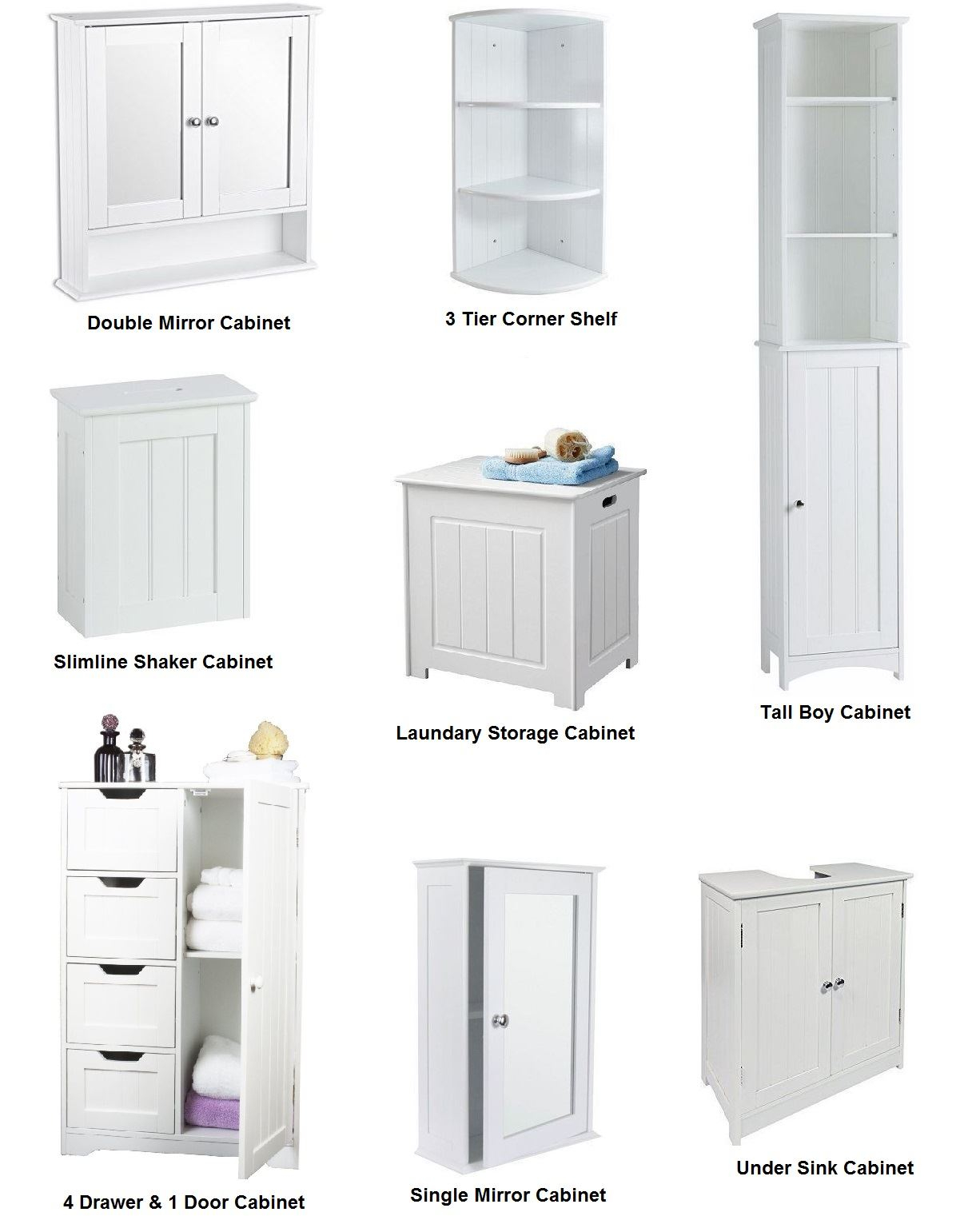 Details About New White Wooden Bathroom Cabinet Shelf Furniture Cupboard Bedroom Storage Unit with regard to size 1201 X 1541
