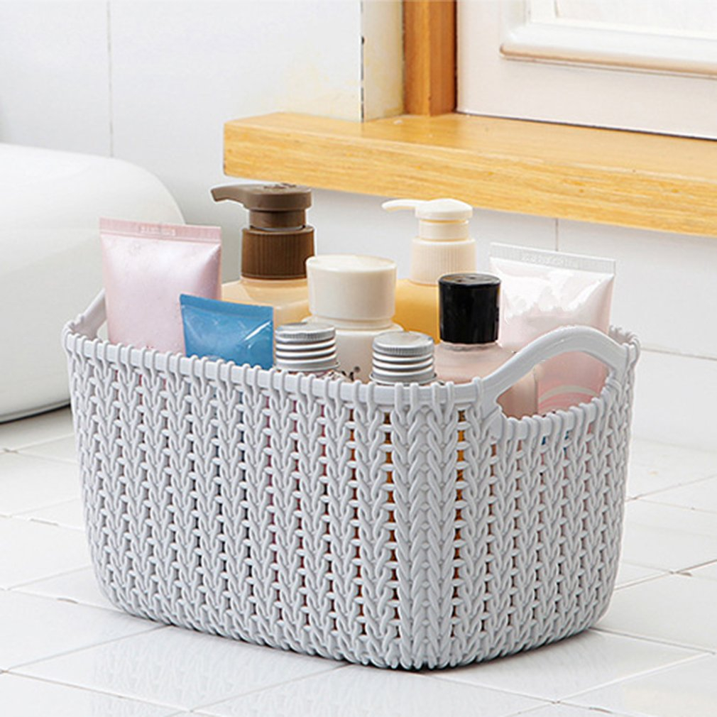 Details About Plastic Weaving Rattan Basket Multifunction Bathroom Shower Storage Basket Nvt within sizing 1010 X 1010