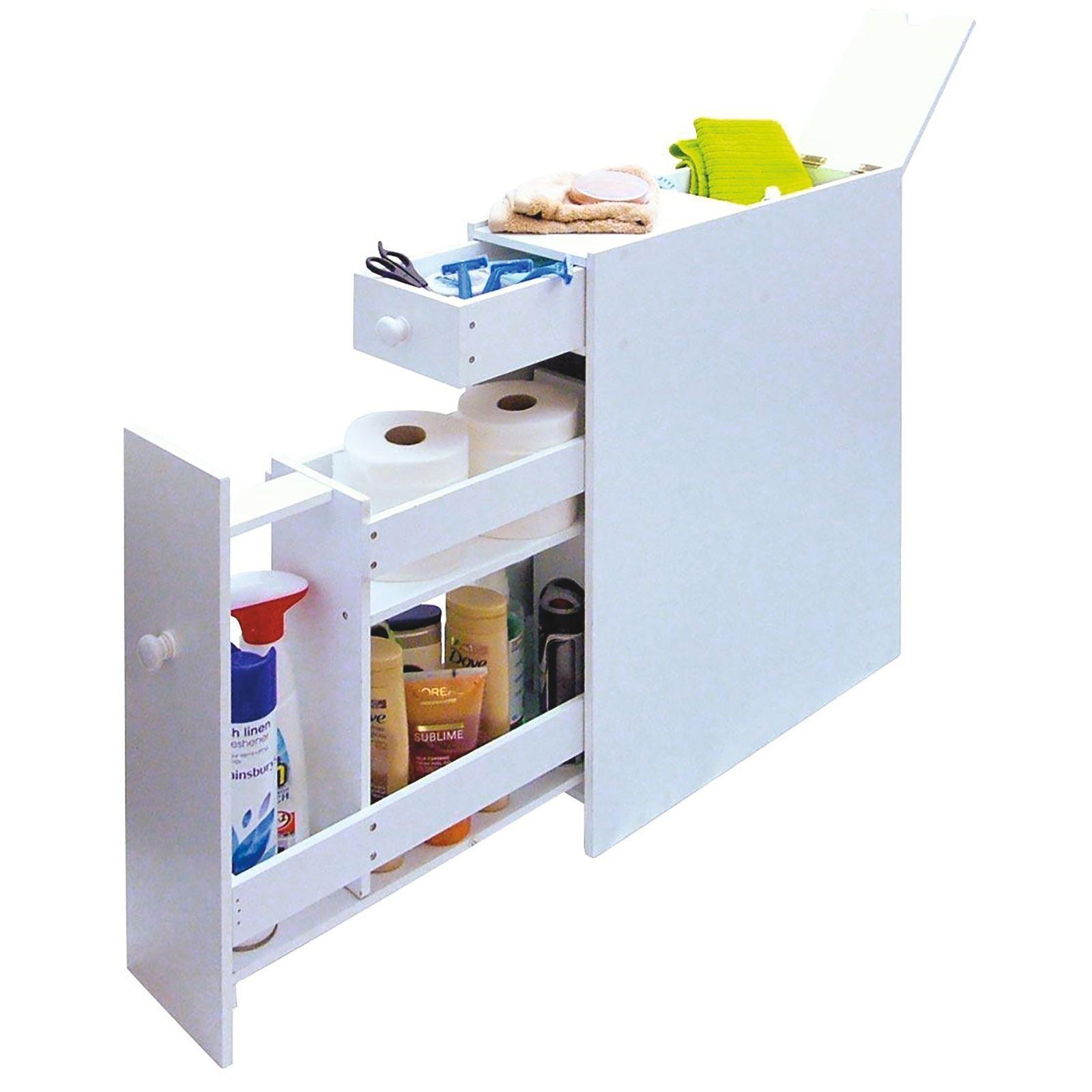 Details About Slim Bathroom Storage Cupboard Thin Cabinet Unit White Slimline regarding measurements 1600 X 1600