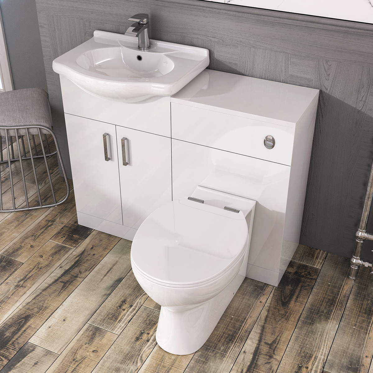 Details About Traditional Bathroom Vanity Unit Basin Sink Unit Storage Wc Gloss White 550mm regarding dimensions 1200 X 1200