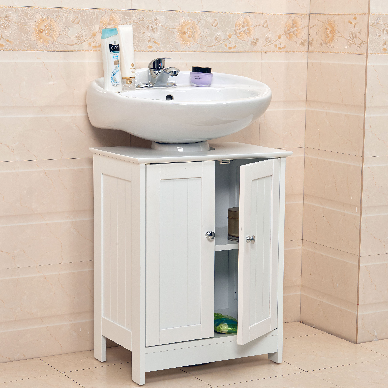 Details About Undersink Bathroom Cabinet Cupboard Vanity Unit Under Sink Basin Storage Wood in measurements 3000 X 3000