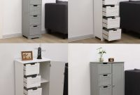 Details About Westwood Bathroom Storage Cabinet Wooden 4 Drawer Cupboard Free Standing Unit inside dimensions 1600 X 1543