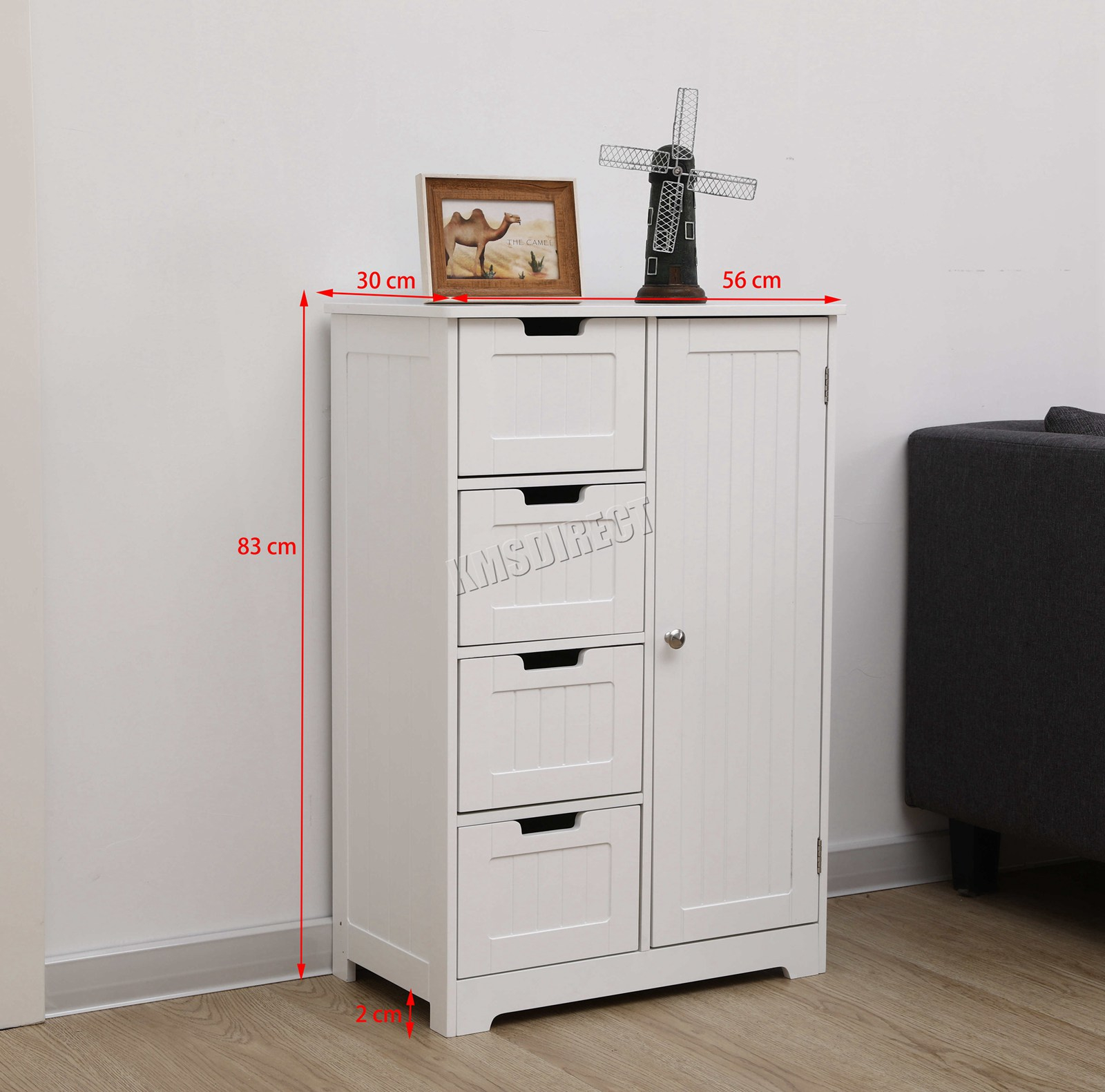 Details About Westwood Bathroom Storage Cabinet Wooden 4 Drawer Cupboard Free Standing Unit with regard to size 1600 X 1581