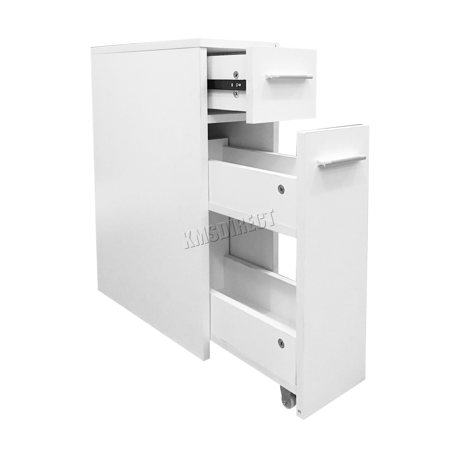 Details About Westwood Slimline Bathroom Slide Out Storage Drawer Cabinet Cupboard Unit White for measurements 1600 X 1600
