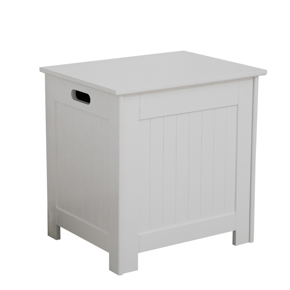 Details About White Bathroom Storage Ottoman Hamper Wooden Floor Cabinet Lift Up Lid Colonial for dimensions 1000 X 1000