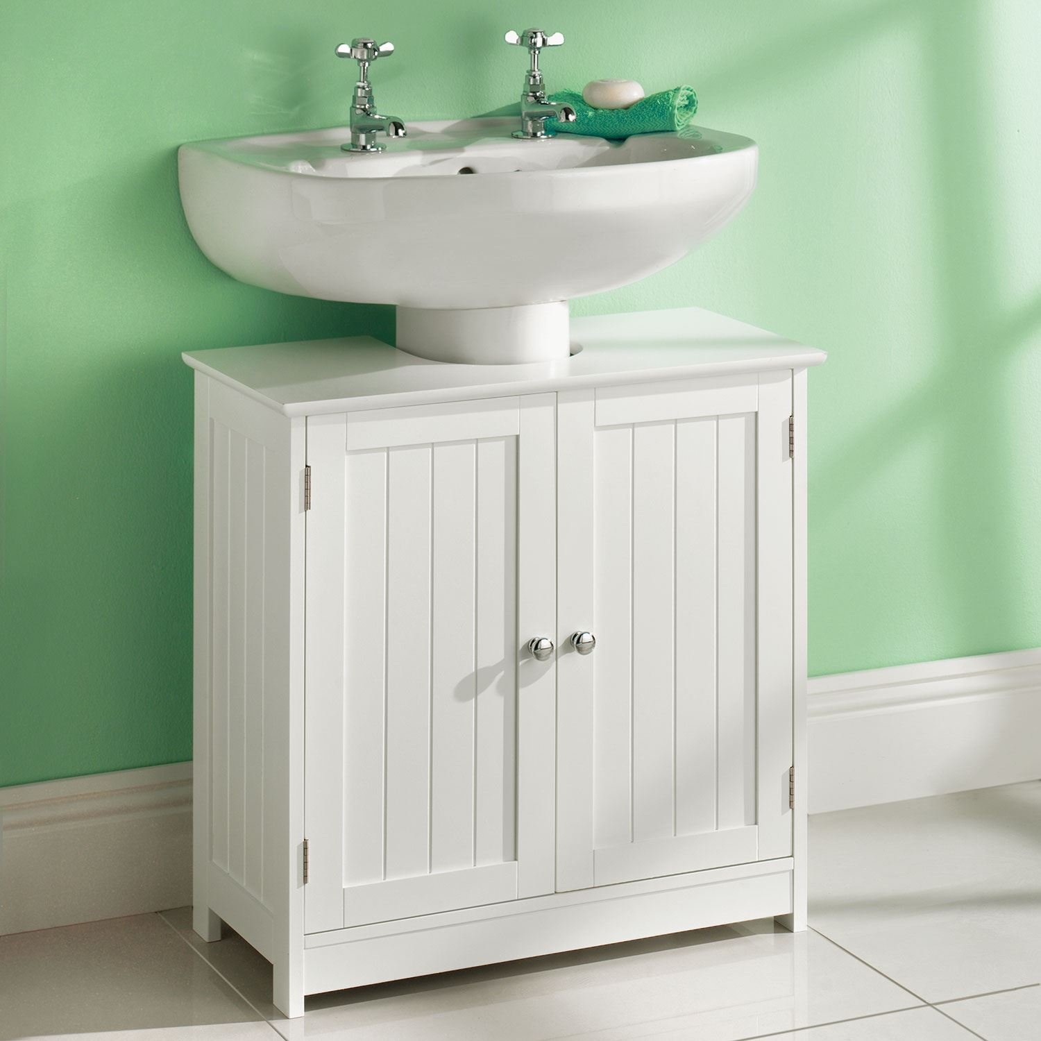 Details About White Under Sink Basin Cabinet Cupboard Bathroom Furniture Storage Unit within measurements 1500 X 1500