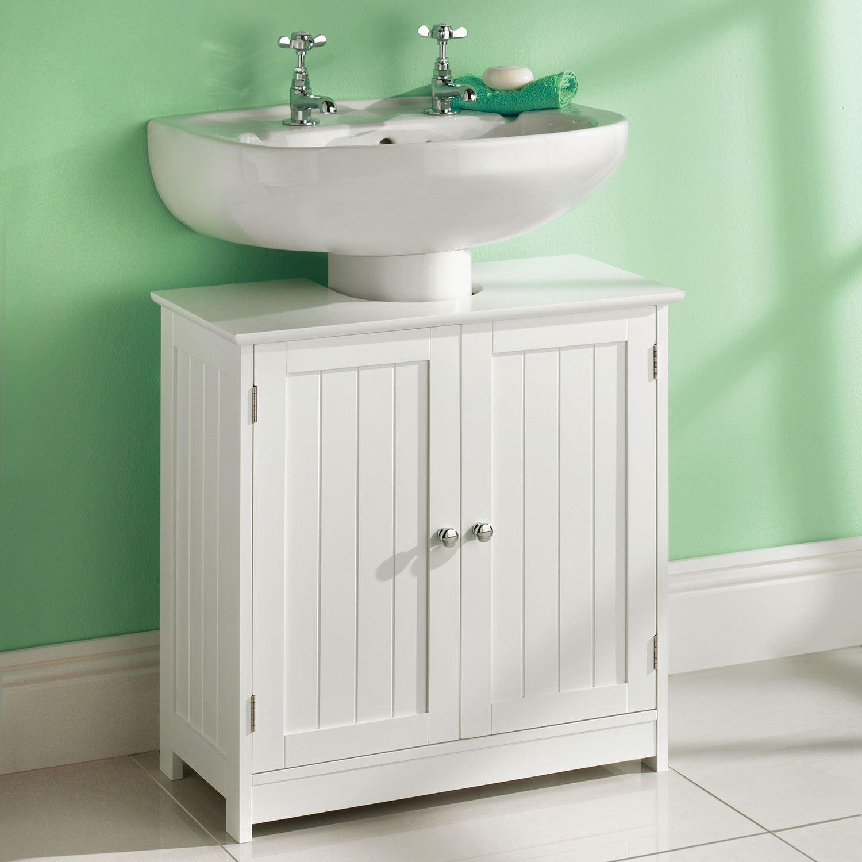 Details About White Under Sink Basin Cabinet Cupboard Bathroom Furniture Storage Unit within measurements 1500 X 1500