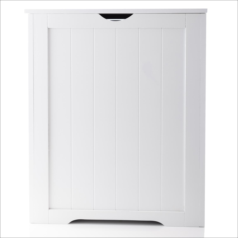 Details About Woodluv Shaker Large Laundry Linen Hamper Bin Bathroom Storage White intended for measurements 1500 X 1500