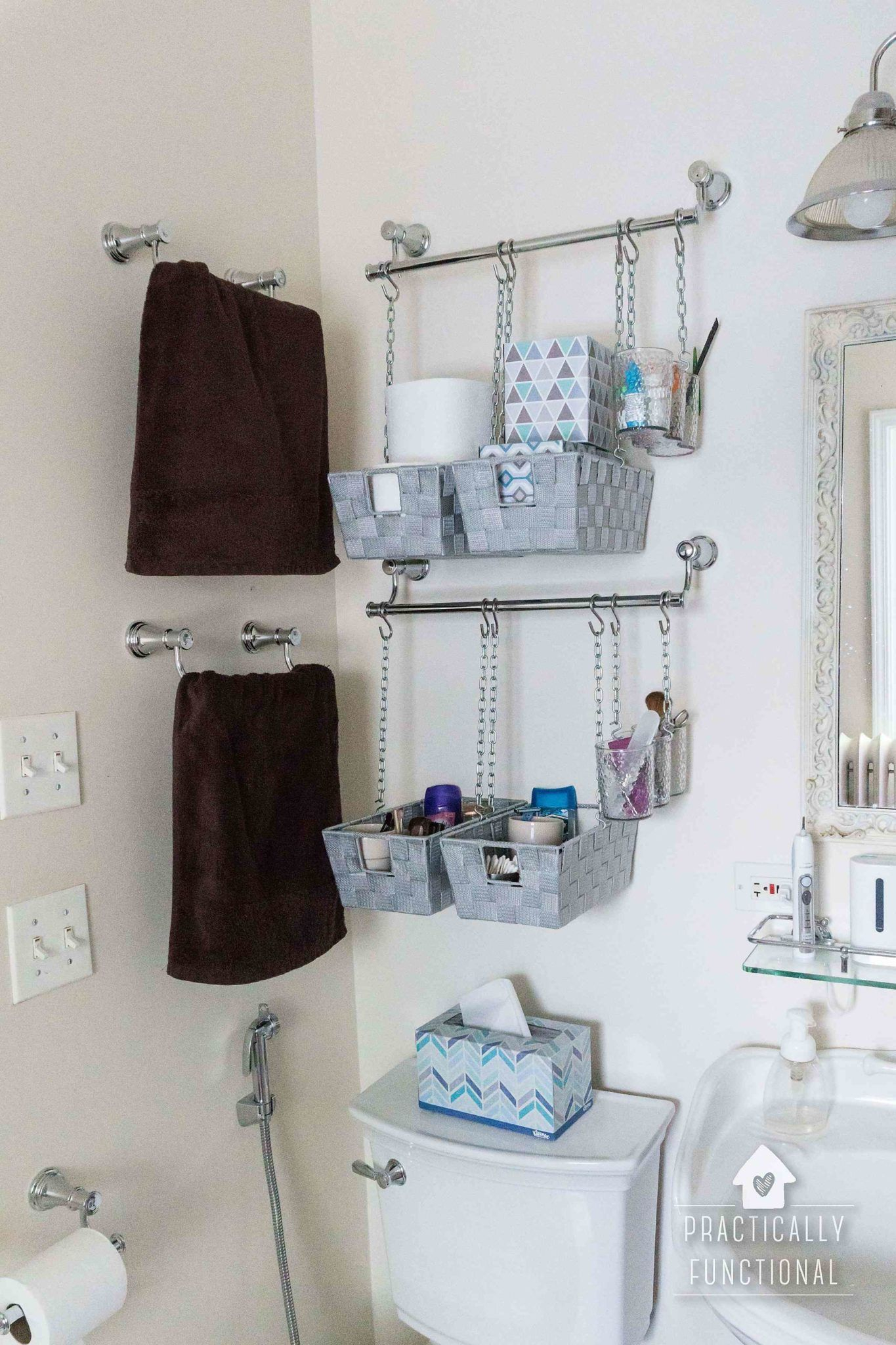 Diy Hanging Storage Bins For Over The Toilet Storage Home inside measurements 1365 X 2048
