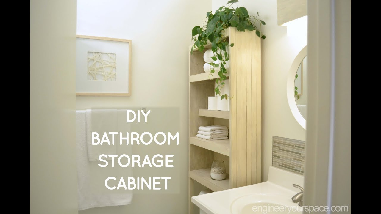 Diy Over The Toilet Storage Cabinet intended for size 1280 X 720