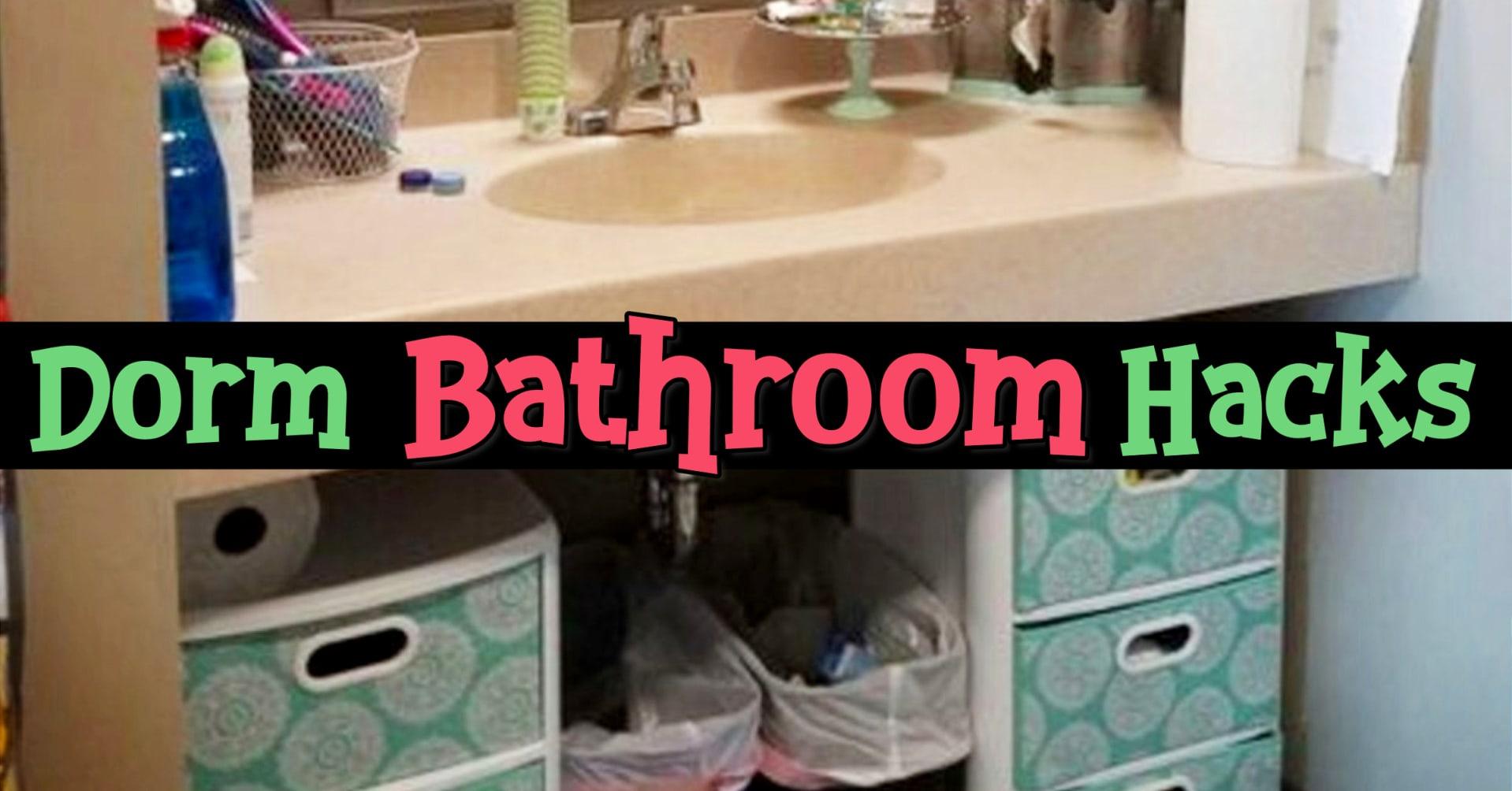 Dorm Bathroom Ideas Survival Hacks Diy Dorm Bathroom with dimensions 1918 X 1004