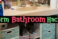 Dorm Bathroom Ideas Survival Hacks Diy Dorm Bathroom with regard to proportions 1918 X 1004