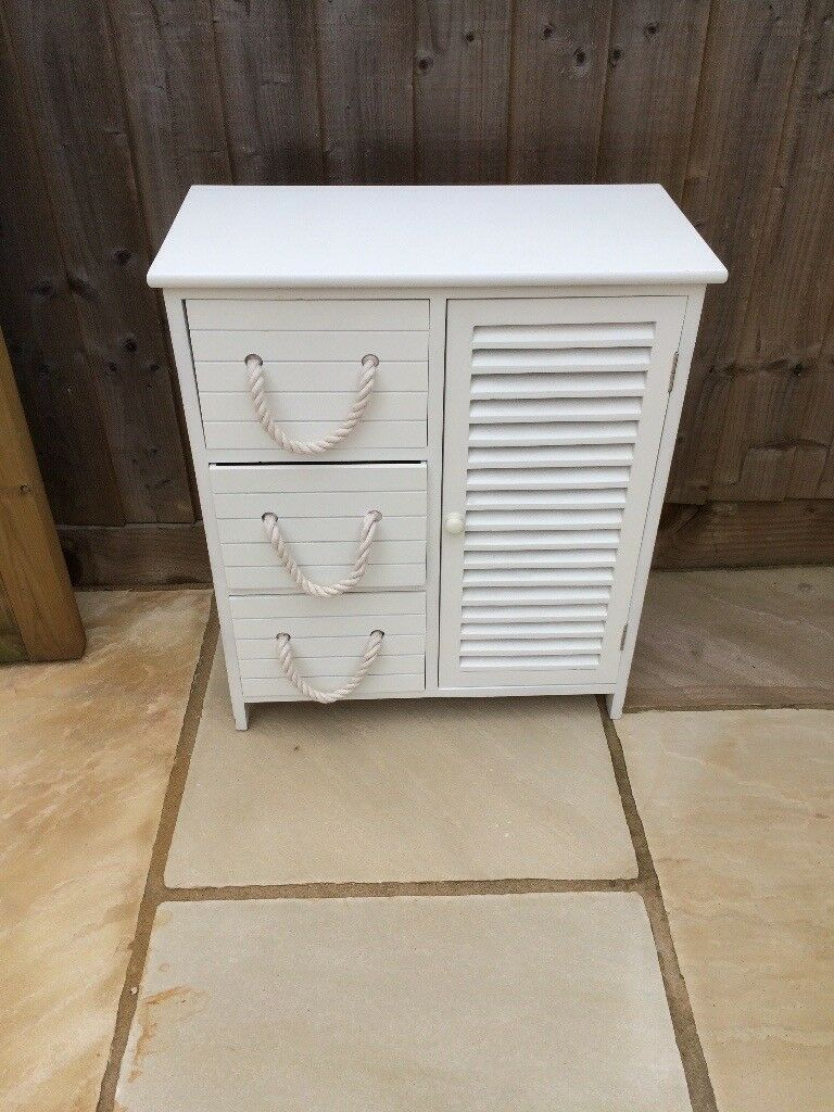 Estilo Nautical White Bathroom Storage Unit In Grange Park Wiltshire Gumtree within measurements 768 X 1024