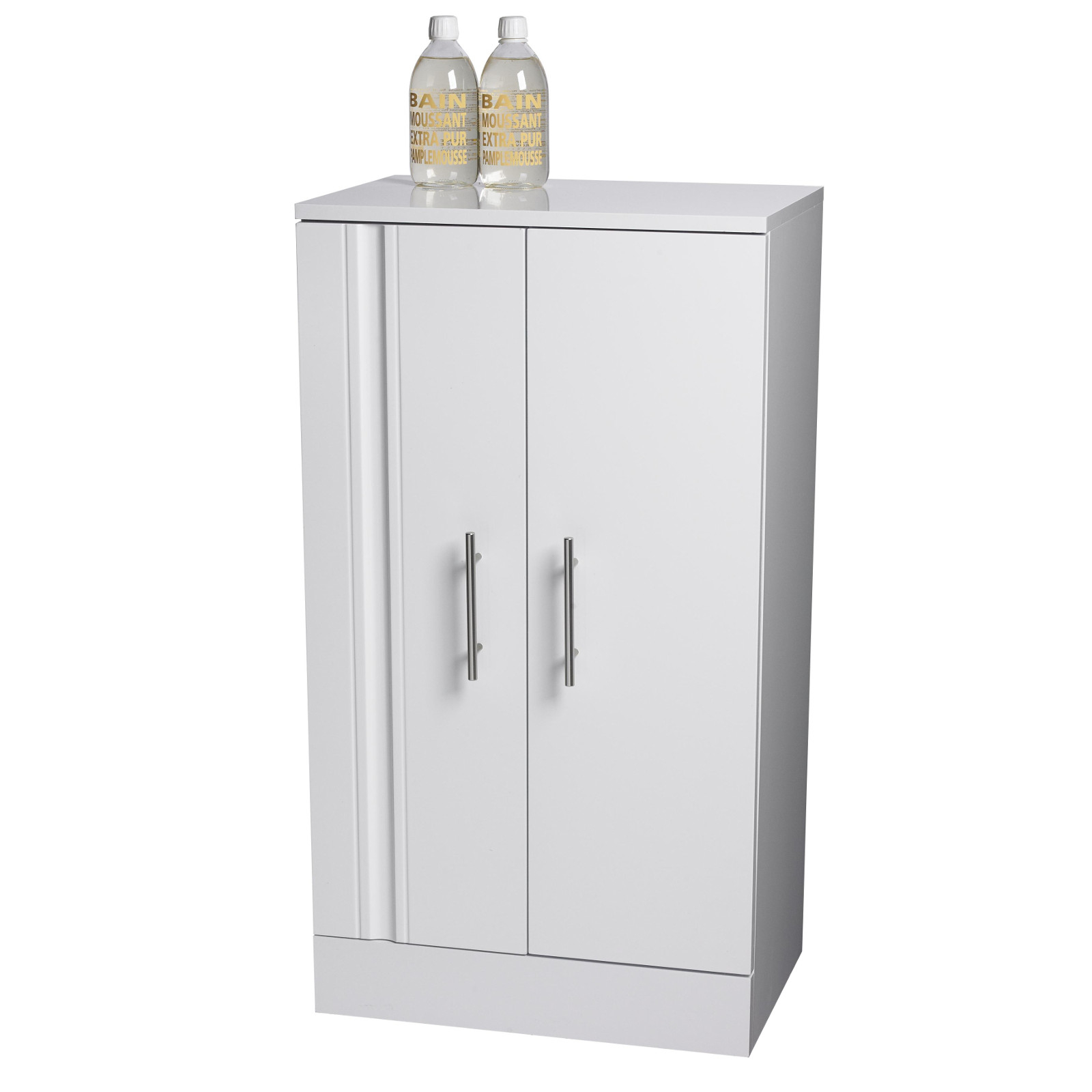 Floor Standing White Como Bathroom Cabinet W Soft Close Double Doors for measurements 1600 X 1600