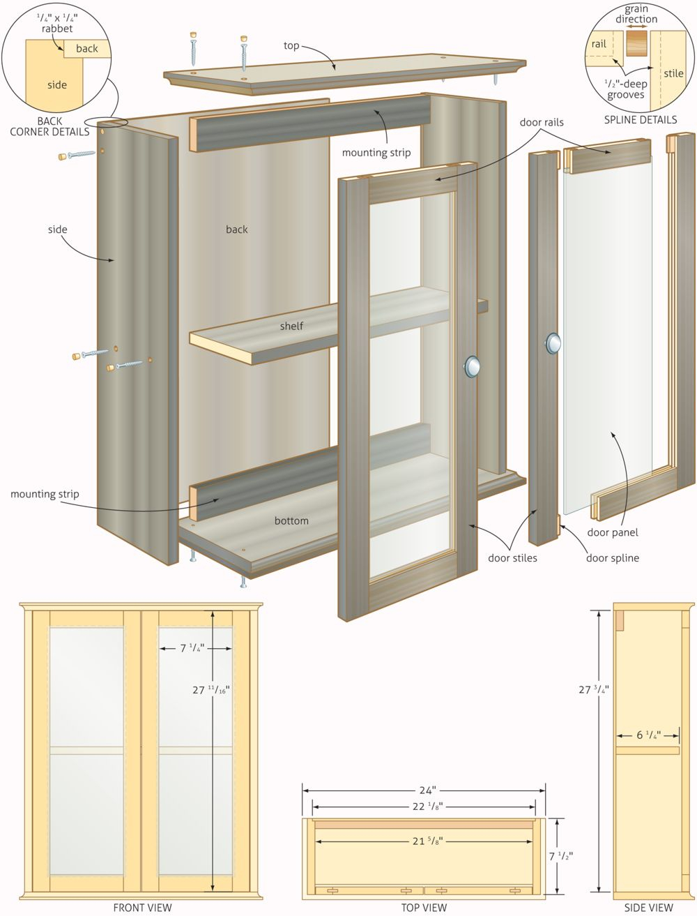 Free Woodworking Plans Bathroom Cabinets Quick Woodworking intended for size 1000 X 1313