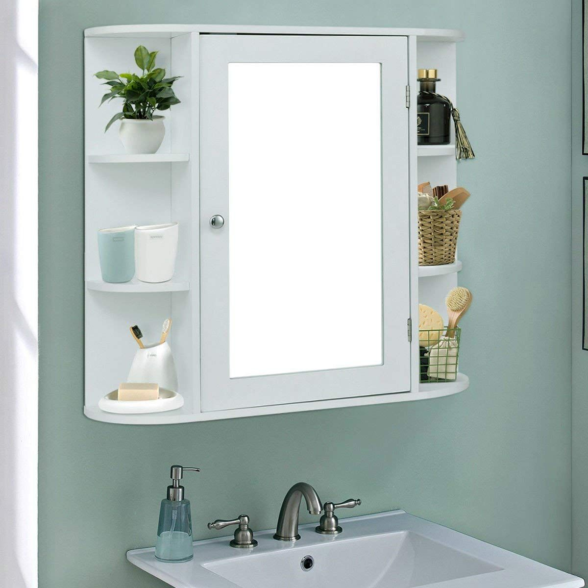 Giantex Wall Mounted Bathroom Storage Cabinet Multipurpose inside measurements 1200 X 1200