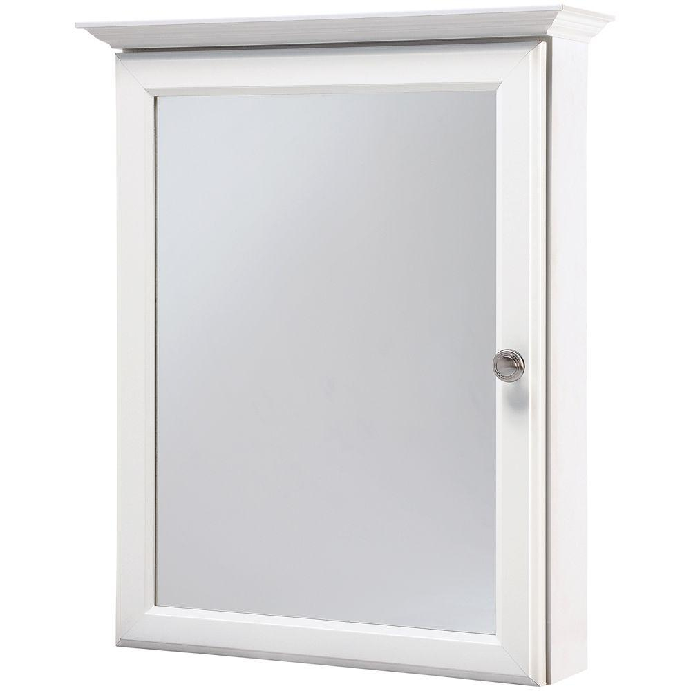 Glacier Bay 20 14 In W X 25 In H Framed Surface Mount Bathroom Medicine Cabinet In White for sizing 1000 X 1000