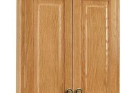 Glacier Bay Hampton 25 In W X 29 In H X 7 12 In D Bathroom Storage Wall Cabinet In Oak for size 1000 X 1000