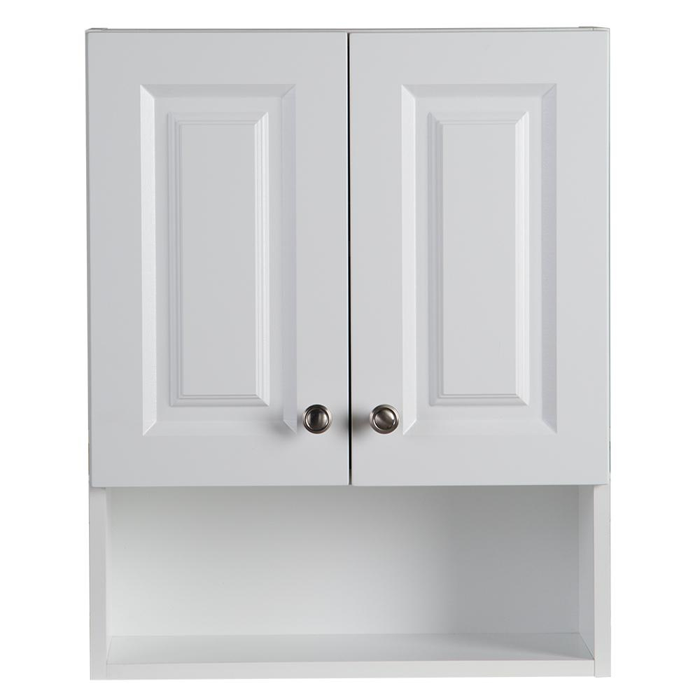 Glacier Bay Lancaster 205 In W Wall Cabinet In White intended for dimensions 1000 X 1000