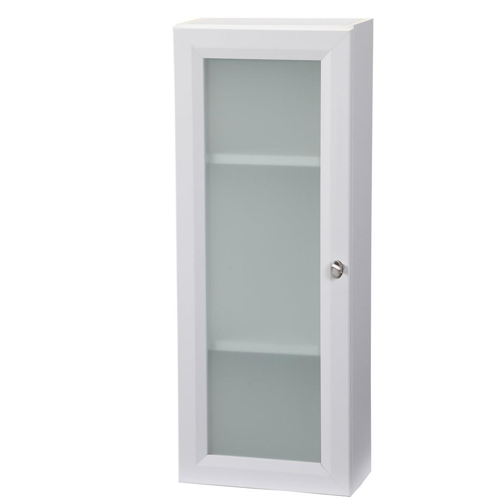 Glacier Bay Modular 12 In W X 31 In H X 6 In D Bathroom Storage Wall Cabinet In White pertaining to dimensions 1000 X 1000